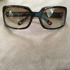 Coach Samantha Rectangular Frame Sunglasses